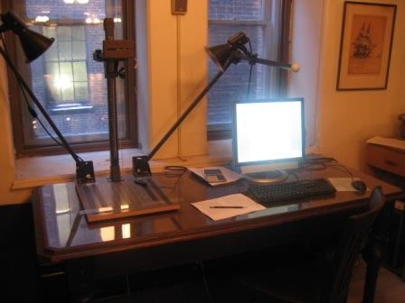 Figure 18. Photography station in the George Peabody Library.